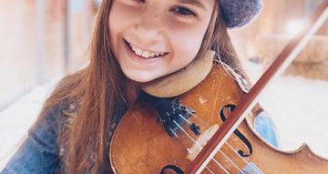 10-річна скрипалька з України стала «вуличною» зіркою Каліфорнії